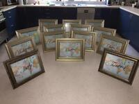 14 Gold Frames (25x17 cm - Wedding Table Decoration