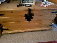 Large real pine storage chest trunk
