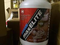 MAX MUSCLE PROTIEN 52 SERVINGS 3 MONTH SUPPLY SEALED CHOCOLATE VANILLA
