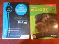 Higher Biology textbook and past papers