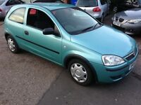 2004 Corsa 1.0 Life Blue 78k miles history CD MOT Nov 2017 HPi Clear £595 Taken as P/Ex now to clear