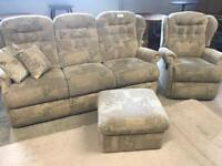3 Seater Sofa/Recliner Chair/Footstool