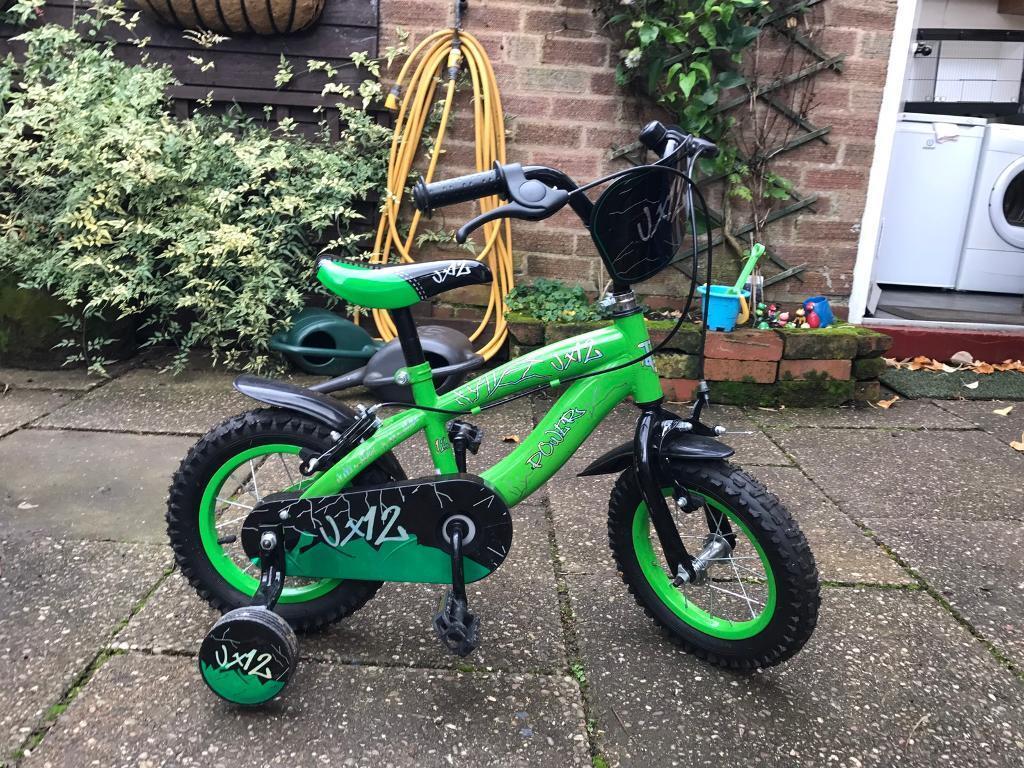 Boys Green 12 inch VX12 Bike