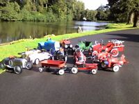 RETRO / VINTAGE STYLE PEDAL CARS AND RIDE ON TOYS