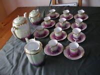 Antique Victorian Porcelain Coffee Set. Serve 12