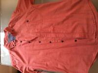 Salmon pink casual shirt from top man