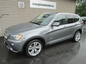 2011 BMW X3 HEATED LEATHER SEATS - PANO ROOF - NAVIGATION