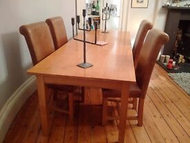 Solid Oak bespoke table (no chairs)