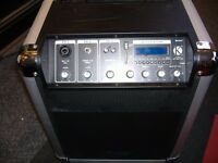 KPA08 PORTABLE PA SYSTEM COMBO AMP AC/DC WITH INTEGRAL 6HR RECHARGEABLE BATTERY