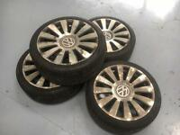 VW AUDI 18inch Alloy x 4, Near New Tyres,
