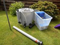 EASY POD POND FILTER WITH MEDIA, UV AND MESH SIEVE PRE FILTER