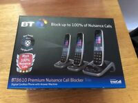 BT 8610 Cordless Home/ Office Telephones with Answer Machine - TRIPE SET