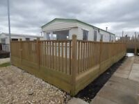 Static Caravan/ Holiday Home located at 7 Lakes Country Park. Fishing/water sports.