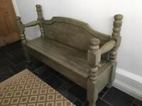 Bespoke wooden bench with storage