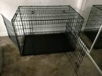 Fold flat dog cage