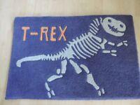 Dinosaur bed linen, rug and lampshade (Next) bundle
