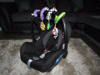 MAXI COSI CABRIOFIX BLACK RAVEN WITH SPIRAL TOY 2105 EXCELLENT CONDITION