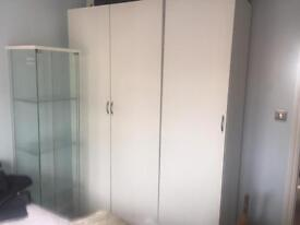 Ikea double and single wardrobe