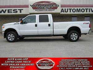 2015 Ford F-350 FX4 4X4 CREW 6.2L V8, 8 FOOT BOX, LOW K'S