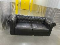 Chesterfield 3 seater leather sofa, Free delivery