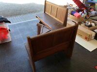 Vintage church Pugh/old school furniture