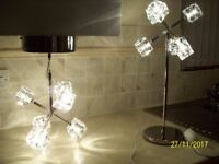 ICE CUBE TABLE LAMP AND PENDANT LIGHT