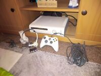 Xbox 360 with accessories and 2 games