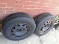 2 x 14 inch volkswagen / vw golf wheel 's £10 each ( + audi seat skoda )