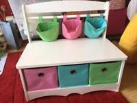 Childrens storage unit / drawers / bench