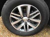 4 x 265/60/18 Bridgestone tyres.
