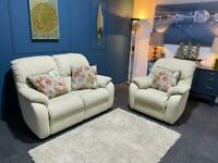 Cream Fabric suite. 2 Seater and Chair