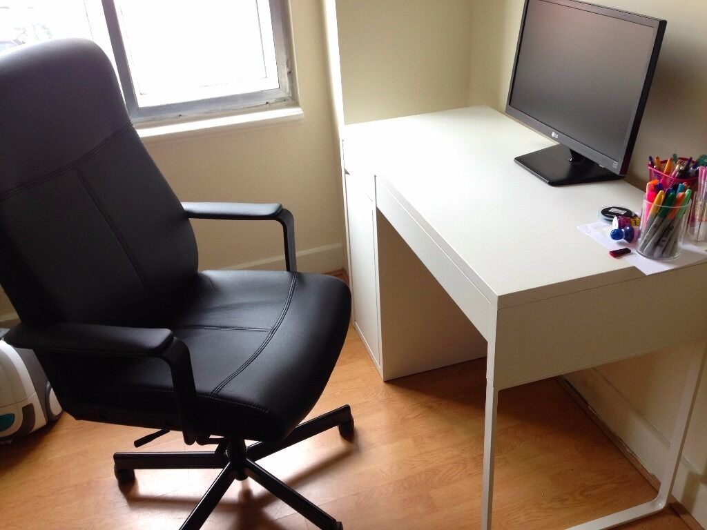 ikea micke desk and malkolm office chair in north london london gumtree. Black Bedroom Furniture Sets. Home Design Ideas