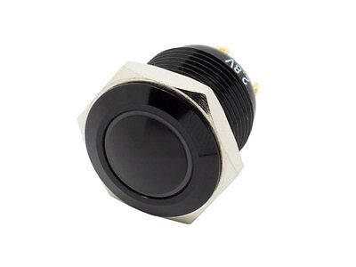 MB16D-R ATI 16mm Momentary Red LED 1.8V 4.3V Push Button Switch Dome Top Black