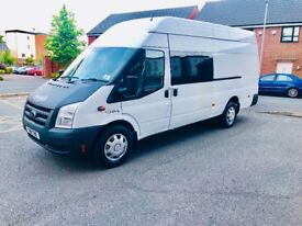 FORD TRANSIT JUMBO T350 115 BHP 6 SEATER CREWCRAB FSH 2 KEYS DRIVES PERFECT 4 NEW TYRES CLEAN VAN