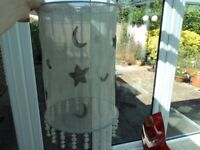 ATTRACTIVE FABRIC LAMPSHADE - LIGHT GREY COLOUR.