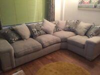 Large corner sofa and snuggle seat