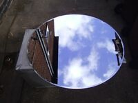 Retro round Mirror