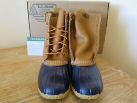 "New. Women's LL Bean Boots 8"" Leather unworn UK size 5"