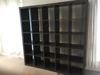 I can deliver - Good condition Dark Brown IKEA KALLAX (5x5 squares) shelving unit