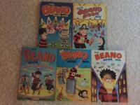 Vintage Beano Annuals 1990-1994 (5 Annuals)