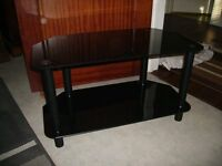 Smoked glass TV table/stand