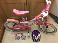 Girl's bike with (staiblisers and helmet) for sale
