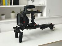 FILMCITY Shoulder Rig FC-02 Mattebox for DSLR Video Camera Canon 5d Rig Cage