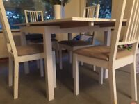 White Dining Table & Four Chair Set
