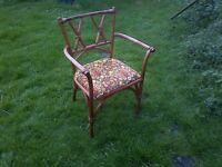 1960s Lusty Solid Elm Occasional Chair - Bamboo Design