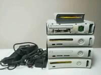 4 Xbox 360 plus xbox hd dvd and power supplies spares or repair
