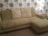 Large Green Dfs Corner Sofa Good Condition