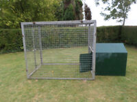 Kennels and runs. Portable, secure and temporary accommodation for dogs and cats or other animals.