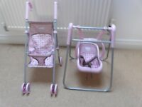 Child's pushchair and swing