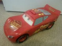 "Disney Cars 14"" Talking Lightning McQueen Car Toy Mattel - Large Moving Eyes ***SOLD***"